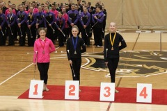 Elsie, 2019 Gold medalist in the Jr(1) Level A 2 Baton event at the 2019 International Cup Qualifier in Winnipeg, MB.