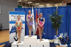 Ashley, 2019 Gold Medalist in the 2 Baton event at the Ontario Provincial Championships.